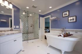 地中海风格卫生间浴缸装修效果图