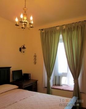 美式乡村三居室地中海风格卧室装修效果图大全2012图片