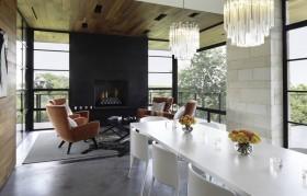 160平三室两厅原生态客厅装修效果图大全