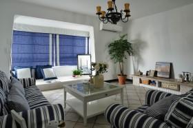 地中海別墅客廳裝修設計效果圖