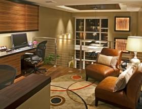 120平米两室两厅美式风格书房装修效果图