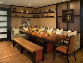 120平米两室两厅美式风格餐厅装修效果图