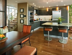 120平米两室两厅美式风格厨房橱柜装修效果图