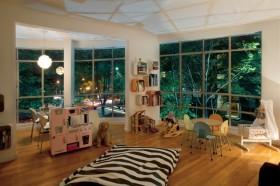 两室一厅田园风格客厅装修效果图大全