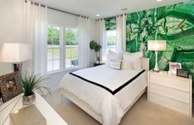 95平米绿色田园 清新的卧室装修效果图