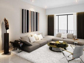Hap Seng tyc 80万打造四居简约风格客厅装修效果图大全2012图片