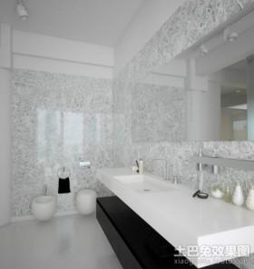 黑与白的对比后现代装修风格卫生间效果图