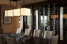 美式风格四居室餐厅吊顶装修效果图大全2012图片