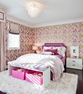 120平复式楼田园风格卧室装修效果图大全