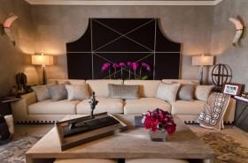160平现代风格客厅沙发背景墙装修效果图大全
