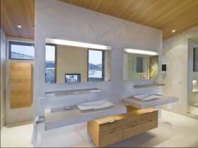 最新农村别墅卫生间洗手台装修效果图