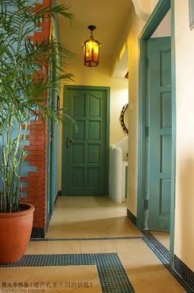 两室两厅田园风格玄关装修效果图