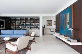 现代时尚三居室客厅装修效果图大全