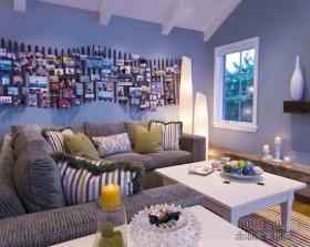 二居室地中海客厅装修效果图
