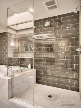 四居室简约卫生间瓷砖效果图