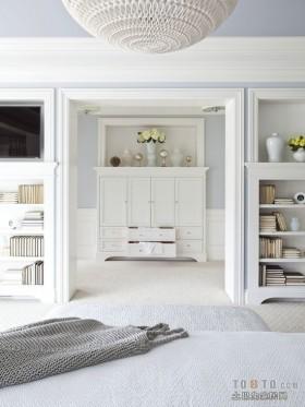 白色简洁复式客厅玄关装修效果图大全2012图片