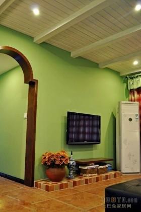 田园风格电视背景墙设计效果图
