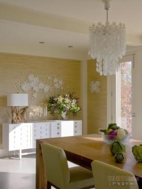 二居室清新自然的餐厅装修设计效果图大全2012图片