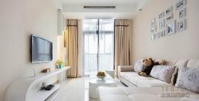 120平米客厅沙发电视背景墙装修效果图