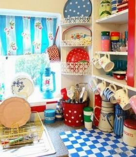 二居室花样厨房一角装饰效果图欣赏