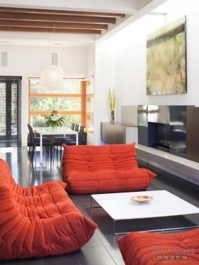 现代简约风格两居室客厅装修图片