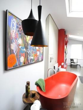 现代风格二居室家庭卫生间效果图