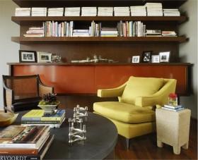 27万打造奢华欧式风格复式书房博古架装修效果图大全