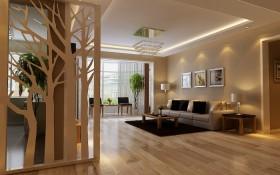 现代客厅镂空屏风隔断装修效果图