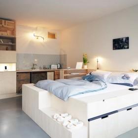 80平小户型温馨卧室装修效果图大全