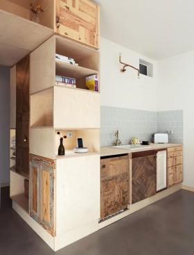 80平小户型时尚创意现代厨房橱柜装修效果图大全