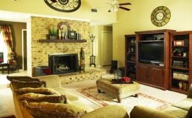 89平米小户型田园风格客厅沙发装修效果图