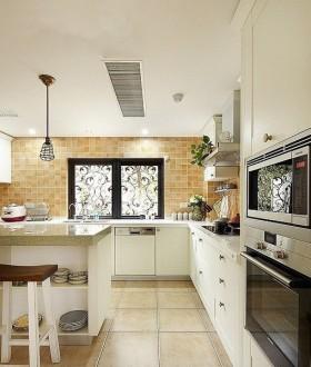 田园美家厨房橱柜装修效果图