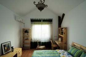田园风格小户型卧室窗帘装修效果图