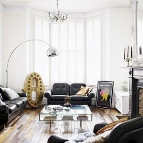 两室两厅现代简约风格舒适客厅装修效果图大全