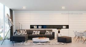 130平米三室两厅两卫装修效果图大全2012图片