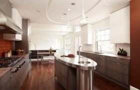 质感的金属材质打造现代厨房吊顶装修效果图大全