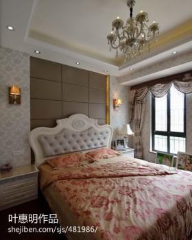欧式风格床头软包欧式卧室床头软包背景墙效果图