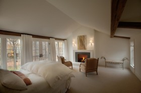 120平复式楼北欧小清新卧室窗帘装修效果图大全