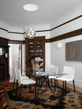 130平现代风格三居餐厅吊顶装修效果图