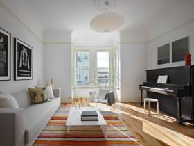 130平现代风格三居客厅吊顶装修效果图