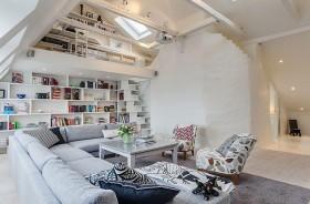 140平米简约风格客厅吊顶装修效果图