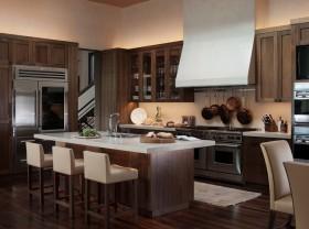 明朗典雅奢华美式厨房装修效果图大全