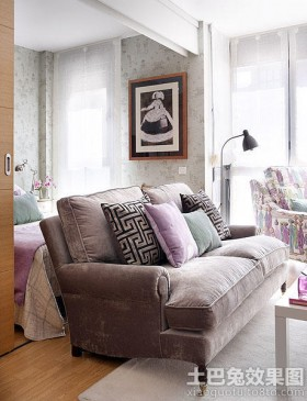 loft小户型客厅沙发图片大全
