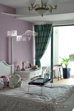 蓝天白云下地中海风格儿童房装修效果图大全2012图片