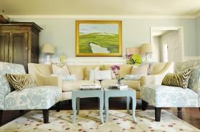 地中海风格客厅图片 客厅挂画装修效果图