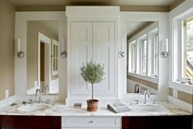 欧式乡村别墅卫生间洗手台装修效果图大全