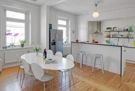 单身公寓简欧风格餐厅装修效果图