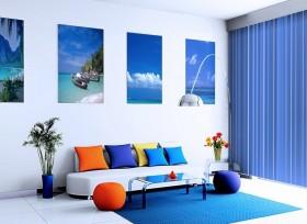 5万打造现代地中海风格小户型客厅装修效果图