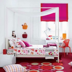 粉色浪漫儿童房装修效果图