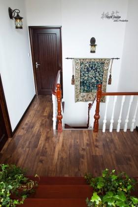 复式楼楼梯过道木地板贴图